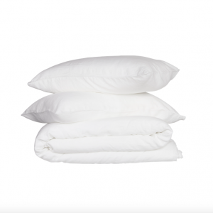 THE COVER COLLECTIVE French Linen Quilt Cover Set – White (Queen)